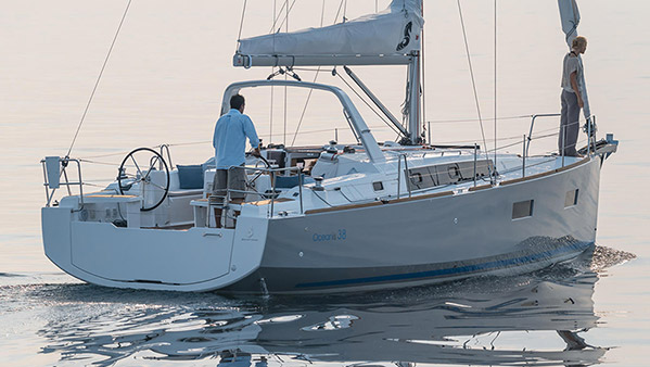 Our vessel Beneteau Oceanis 38 named Audacious D